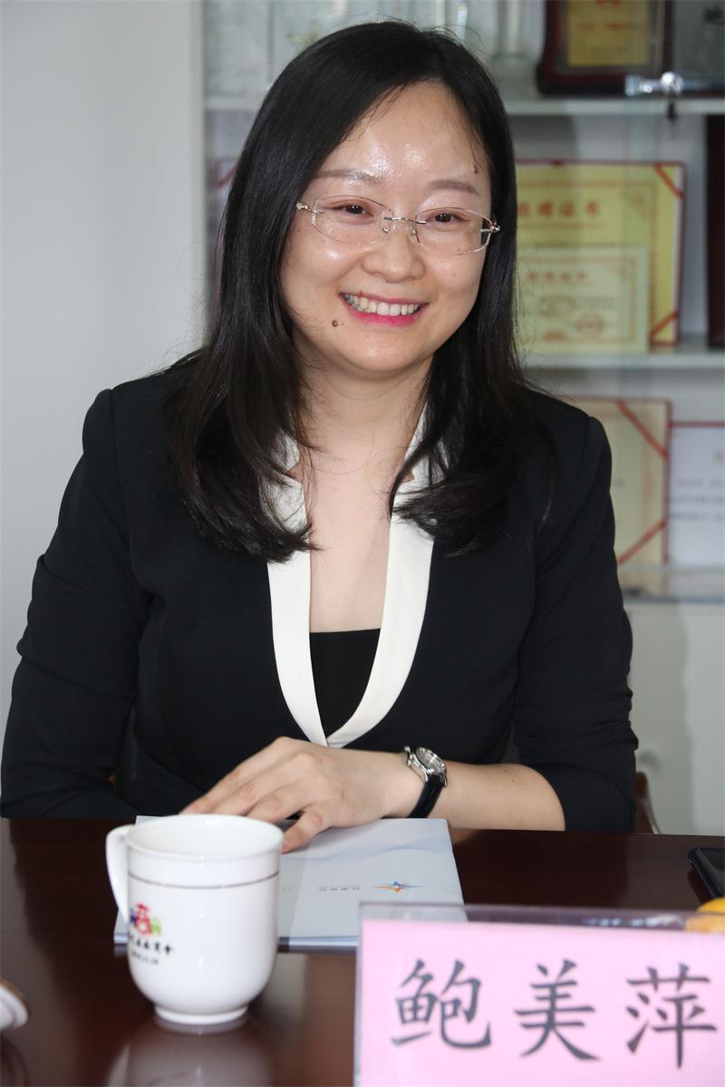 走访理事单位鲍美萍的企业——扬州邮驿电子商务有限公司